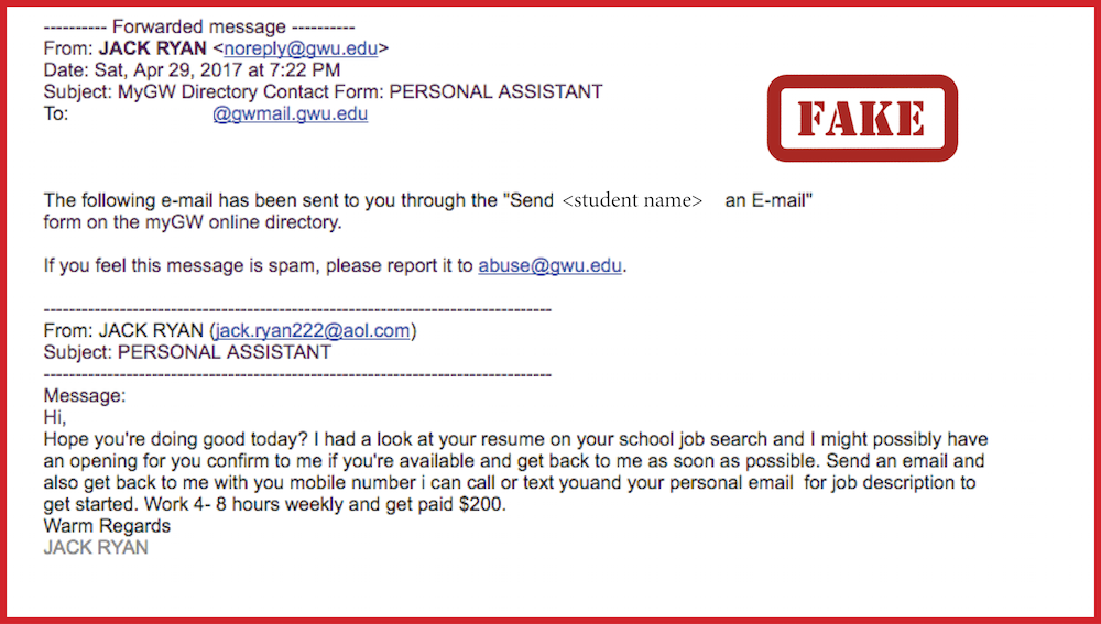 Multiple Phishing Scams Currently Circulating GW Email ...